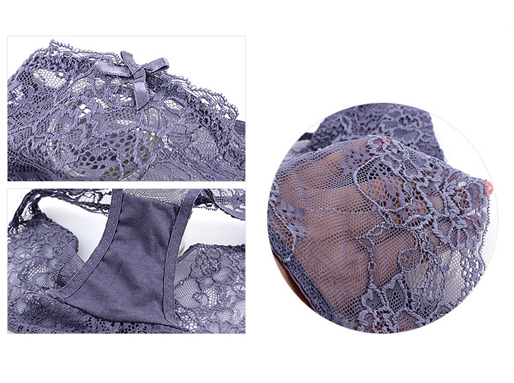 CINOON New Top Sexy underwear Set Push-up Bra And Panty Sets Embroidery Lace Brassiere Adjustable Straps Gathered Lingerie (20)