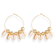 2019 Colorful Sea Shell Earrings Alloy For Women Summer Beach Ladies Fashion Jewelry