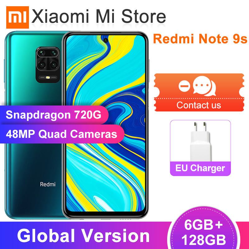 """In Stock Global Version Xiaomi Redmi Note 9S 9 S 6GB 128GB Smartphone Snapdragon 720G 48MP Camera 6.67"""" 5020mAh 18W Charge(China)"""