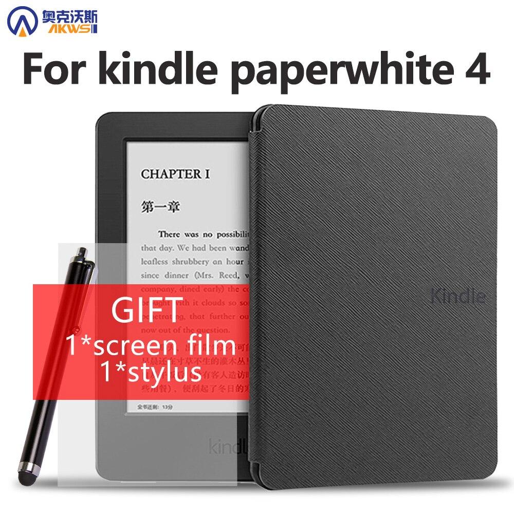 Skórzane etui z PU na 2018 nowy Amazon kindle paperwhite 4 10th e-czytnik ultra cienki futerał kindle nowy kindle paperwhite 4 okładka