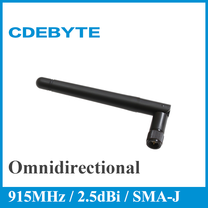 CDEBYTE 2pcs 915MHz Omnidirectional Wifi  Antenna High Gain Long Range SMJ 2.5dBi 915M Aerial