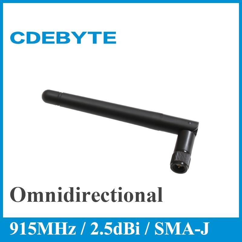 CDEBYTE 2pcs 915MHz Omnidirectional Wifi  Antenna High Gain Long Range SMJ 2.5dBi 915M Aerial