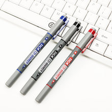 Twin Tip Permanent Markers Fine Point Black Blue Red Ink Portable Fine Colour Marker Pen CD-197 1PC Writing Pen(China)
