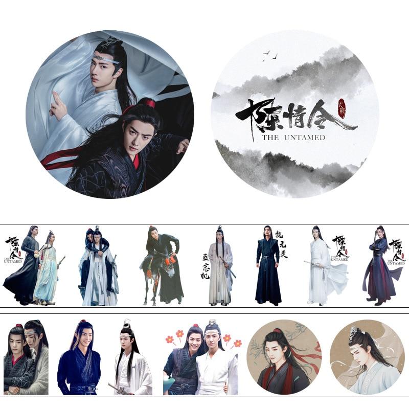 4cm*5m Anime The Untamed  Chen Qing Ling Xiao Zhan Wang Yibo Washi Tape Adhesive Tape DIY Decorative Scrapbooking Label Sticker