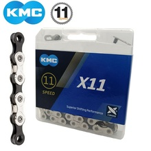 KMC X11 Silver/Black 11 Speed Bike Chain 118 Links With Quick Link MTB Mountain Bike Road Bicycle 22/33 Speed Cassette Chain genuine kmc x8 x9 x10 x11 mtb bike chain 8 9 10 11 speed bicycle chain 116 links steel road bike chain with missing link