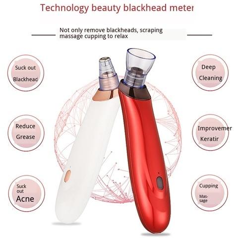 Removedor de cravo poros limpeza 3d sugar acne graxa melhorar horny cupping massagem aspirador preto