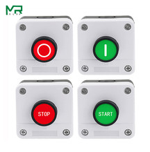 22mm button switch white control plastic water tank NO/NC  start industrial startup  control box 68 * 68 mm