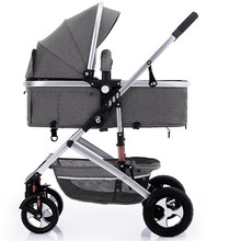 Multi-function Adjustable Lightweight Luxury Baby Stroller 3 in 1 Folding Portable Hot Mom Travel Pram Pink