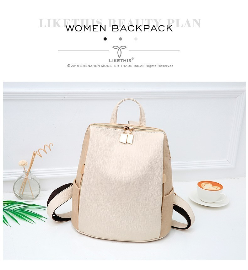 Hb19456d85c0d45ffb0bd4db8d4dce0caP Women Backpack for School Style Leather Bag For College Simple Design Women Casual Daypacks mochila Female Famous Brands168-325