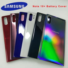 Capa vidro 3d para samsung galaxy note 10, cobertura de bateria traseira, porta, caixa traseira, substituição para samsung galaxy note10