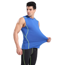 Sport fitness męska kamizelka mocno elastycznej tkaniny oddychające i szybkie suszenie 3D osobowość projekt sportowe do biegania ćwiczenia kamizelka tanie tanio summer Poliester Pasuje prawda na wymiar weź swój normalny rozmiar