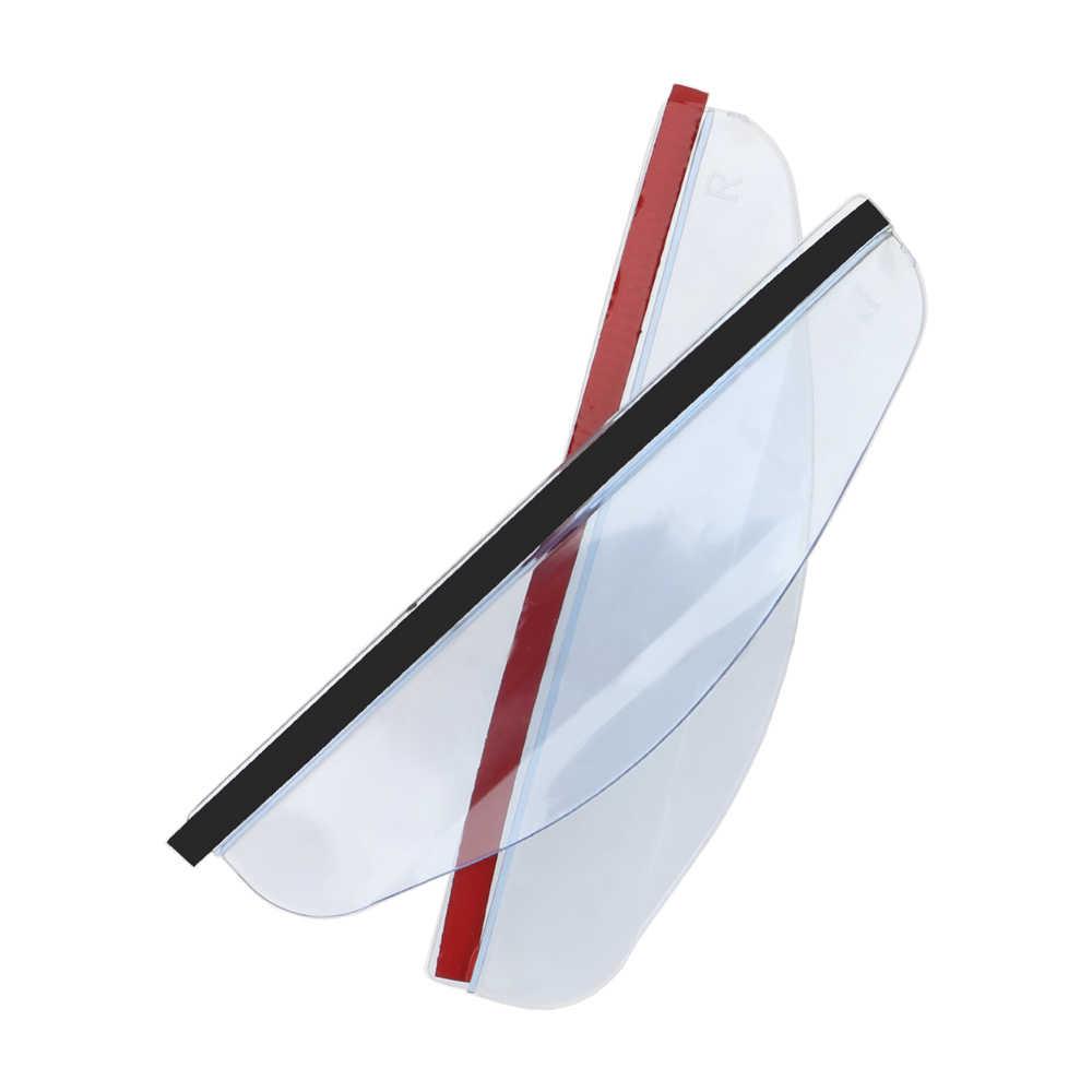 LEEPEE Universal Augenbraue Regen Abdeckung Spiegel Sonnenblende 2 Stück Flexible PVC Auto Rückspiegel Regen Schatten Auto Zurück Spiegel