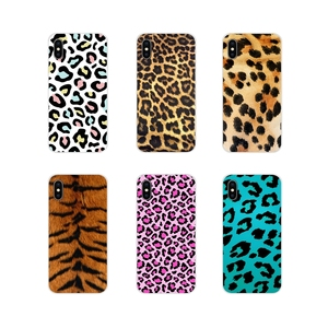 For Apple iPhone X XR XS 11Pro MAX 4S 5S 5C SE 6S 7 8 Plus ipod touch 5 6 Silicone Phone Cases Cover Fashion Tiger Leopard Print