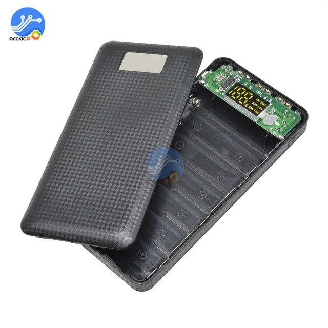 3 USB 7x18650 batterie bricolage batterie externe support de la boîte boîtier LCD affichage batterie Charge pour téléphone portable PC avec lampe de poche LED