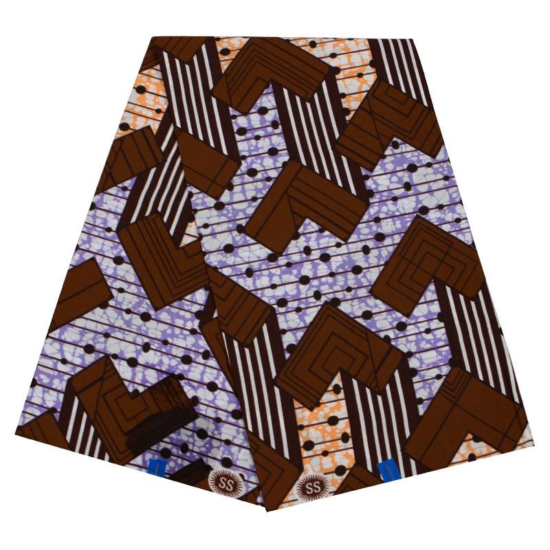 2019 New Arrivals 100% Cotton African Fabric Nigeria Veritable Ankara Guarantee Real Wax 6Yards\lot