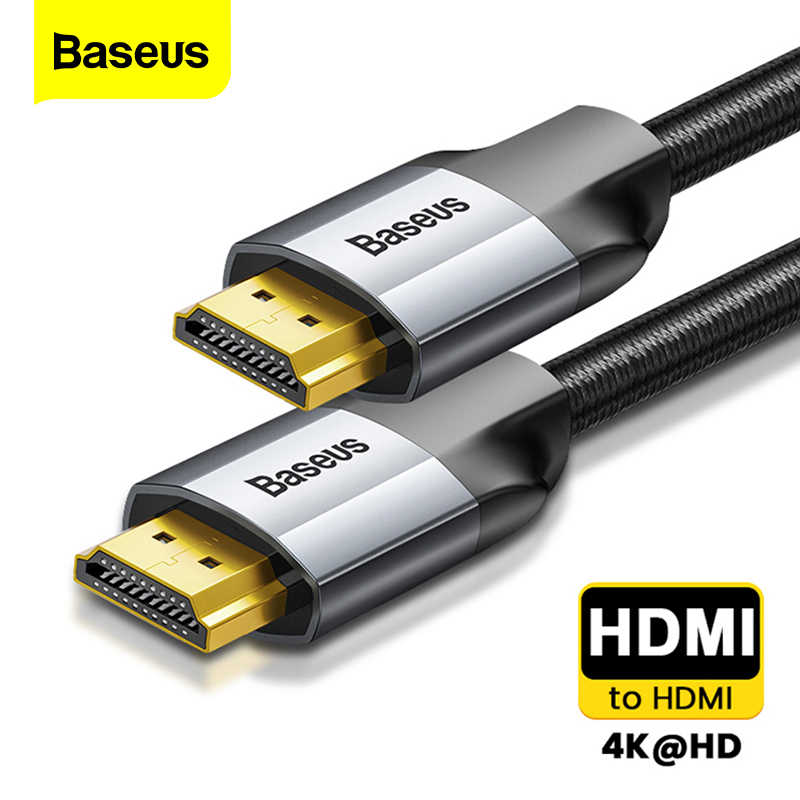 Baseus kabel HDMI 4K z męskiego na męskie kabel HDMI 2.0 do projektora PS4 TV Audio wideo przewód zasilający HDMI przejściówka cyfrowa 5m 3m