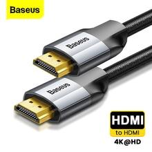 كابل HDMI من Baseus كابل HDMI بجودة 4K ذكر إلى ذكر HDMI 2.0 لجهاز عرض PS4 جهاز تلفزيون صوت وفيديو HDMI سلك سلك محول رقمي فاصل 5 متر 3 متر
