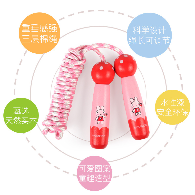 Children Jump Rope Men And Women Fitness Auxiliary Outdoor Sports Jump Rope Cartoon Adult Children Students Training The Academi