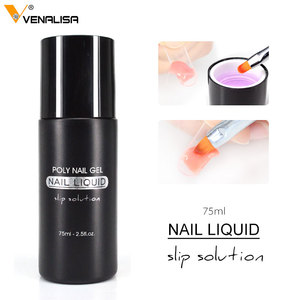 Nail Art DIY French Nail Extension Full Cover Acrylic Nails Jelly UV Gel Gum VENALISA Poly Nail Gel Slip Liquid Cleanser Remover