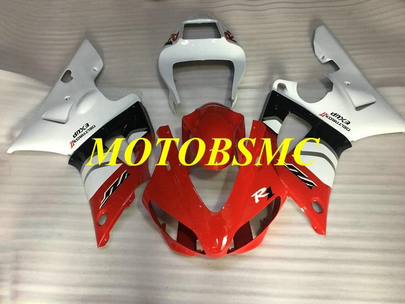 Custom Motorcycle Fairing Kit for YZFR1 98 99 YZF R1 1998 1999 YZF1000 ABS Plastic Red White Bodywork+Gifts YC46