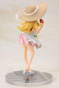 Image 5 - Аниме Oshino Shinobu Японская Игрушка, фигурки 17 см alter Sunshine Girl Kiss Shot, в соломенной шляпе и платье, сексуальная фигура для девочек