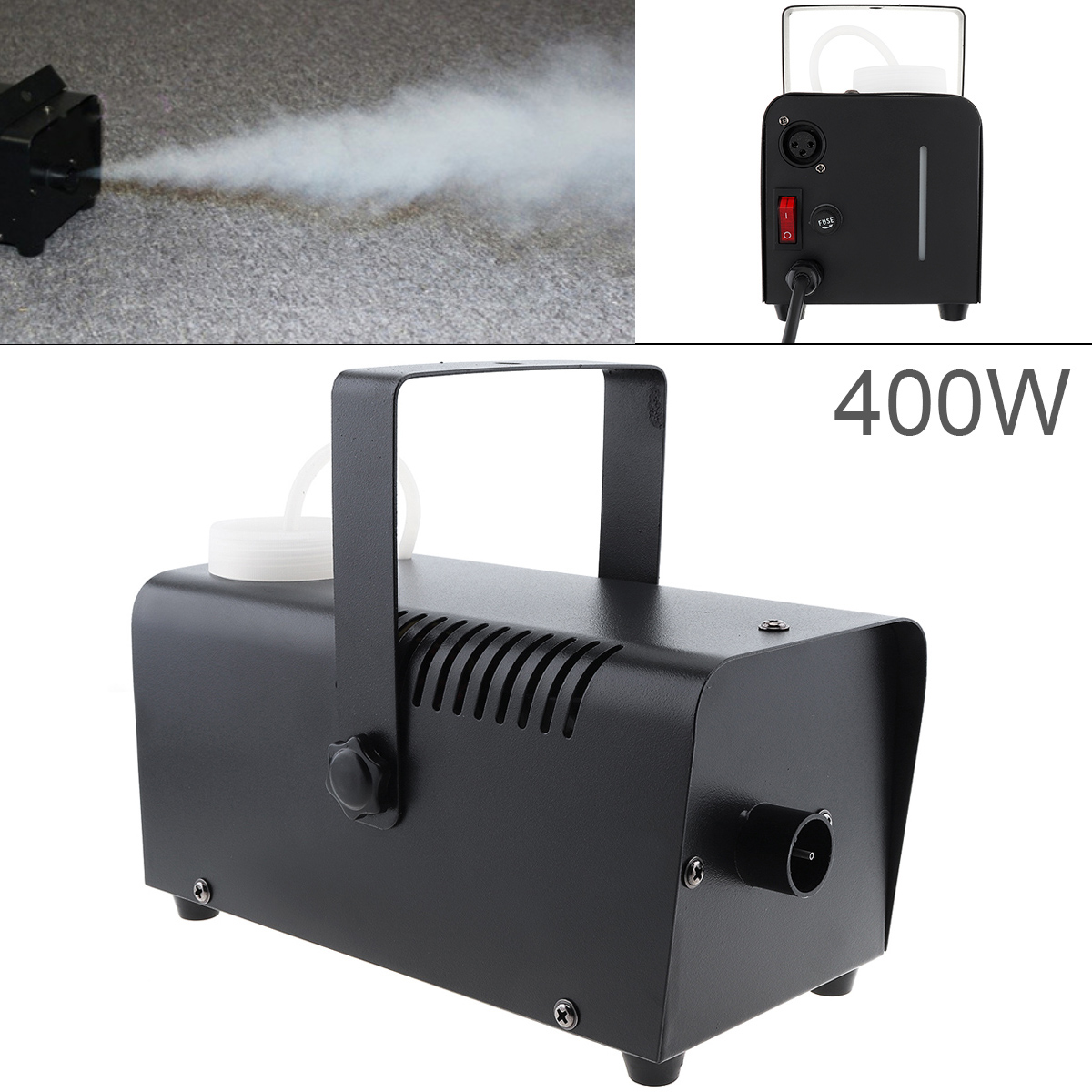 400W Universal Wire Control 400W Hood Fog Machine Professional Fog Machine Fog Ejector for Wedding / Stage / Bar / KTV