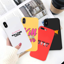GYKZ Blackpink kill This Love Soft Silicone Case Cover For iPhone X XS MAX XR 7 8 6 6s Plus Fashion Letter Girl Phone Coque Capa