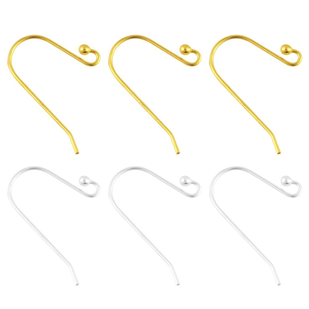 10pcs per 925 Silver Color Earring Hooks Ear Wires Accessories Earrings For Making Jewelry Finding Earring Base DIY Supplie