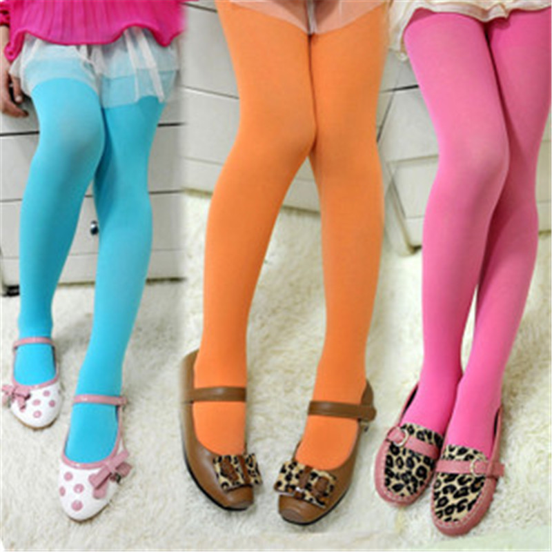 Spring Autumn Kids Girl Cotton Long Leggings 10 Kinds Colorful Velvet  Solid Candy Color Comfortable High Quality Leggings 5-12Y