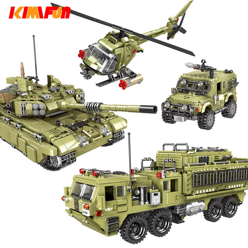 Militaire Tank model Bouwstenen Mortel Leger soldaat wapen bricks kinderen Speelgoed Gesimuleerde War Machine Compatibel Legoings