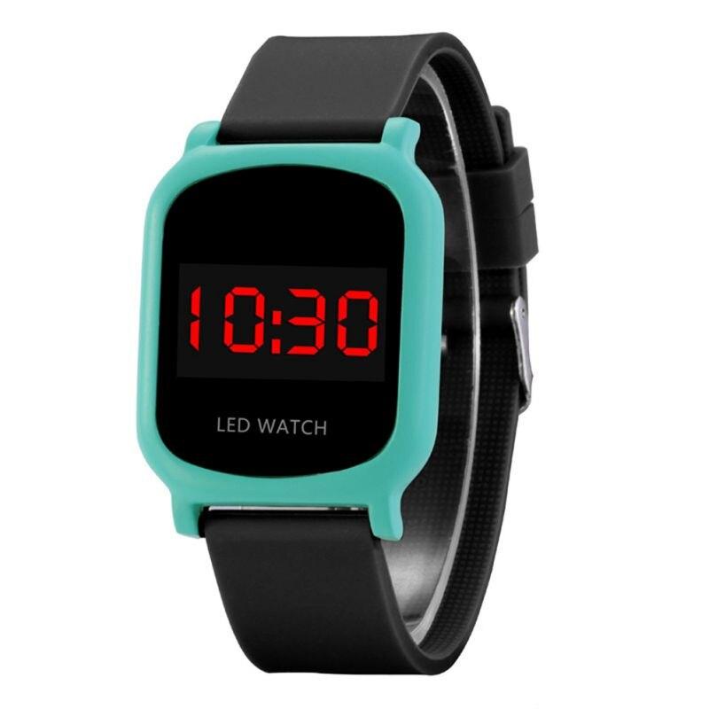LED Light Digital Wrist Watch Electronic Children Kid Boy Girl Comfortable Clock Watch Kid Boy Girl Digital Wristwatch
