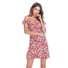2020 сексуальное шифоновое женское платье без рукавов с открытыми