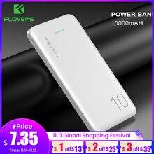 Портативное зарядное устройство FLOVEME, внешний аккумулятор 10000 мАч для телефонов Samsung, Xiaomi, панк питания