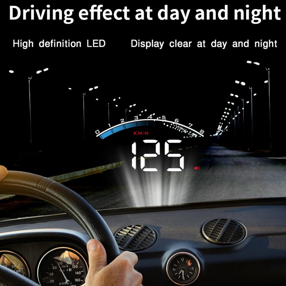 Universal M6S Car HUD Display ODB II GPS Speedometer Tachometer Speed/Water Temperature/Voltage LED Head Up Display Projector