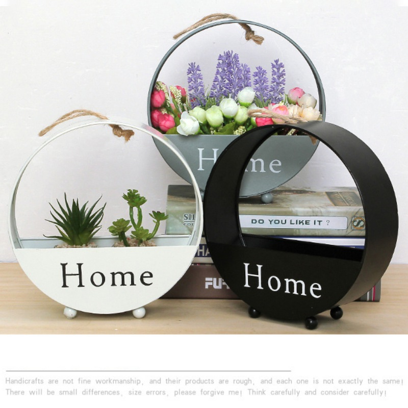 Parede europeia pendurado flor cesta encaixotado sala de estar festa casamento escritório decorativo vaso flores cremalheiras para casa mesa decoração