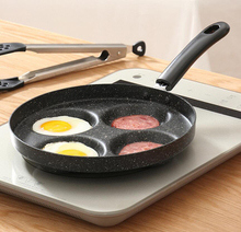 цена на 10 inch Nonstick Frying Pan 4 Hole Cookware Fry Pan for Egg Pancake Steak Cooking Pan Pot for Gas Cooker Grill Skillet Pan