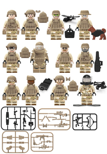 Kids Building Block Bricks Toys for Kids Soldier Policemen Field Army Figure Team with Weapon Small Particles Block Learning Toy