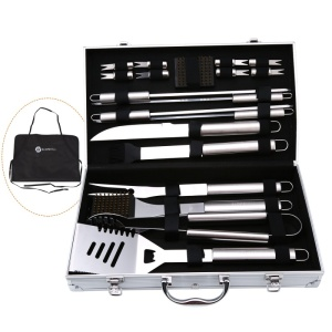 BBQ Tool Set With Aluminum Sto