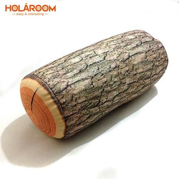 1 sztuka drewno Log poduszka drzewo kikut drewno tekstura pianka do podróży spanie użyj kolumna poduszka w samochodzie dekoracja poduszka pod kark tanie i dobre opinie HOLAROOM Dekoracyjne Other Drukuj Masaż NECK quality TO34D 0-0 5 kg