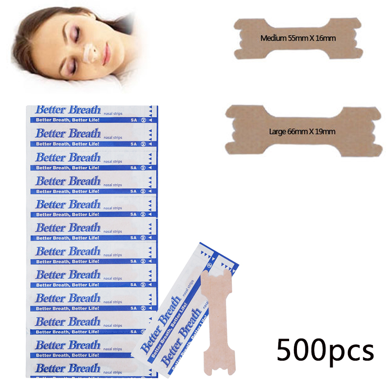 500 Pcs Anti Snoring Nasal Patch Breathe Better Nasal Strips Adult Stop Snoring Health Care Strip Health Care Patch Product