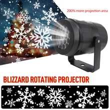 Снежный светодиодный движущийся лазерный проектор светильник