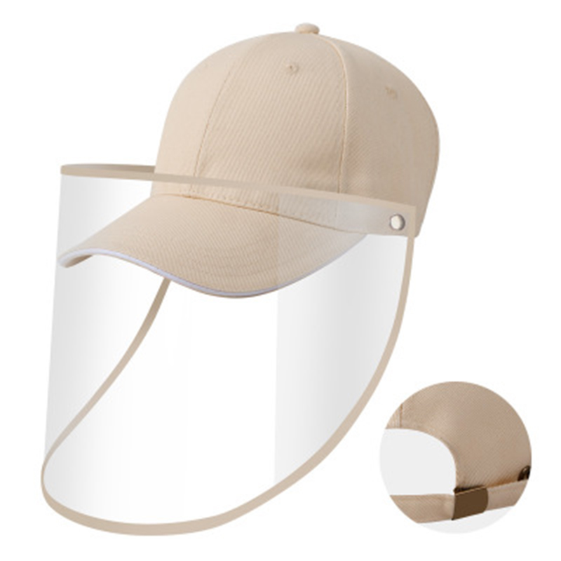 8 Colors Anti-splash Fishing Caps With Transparent Shield Windproof Dustproof Outdoor Sunshade Running Hat Removable Face Cover