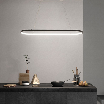 modern decor led pendant lights for dining room parlor aluminum black/white Pendant lamp suspension luminaire lustres lampadari