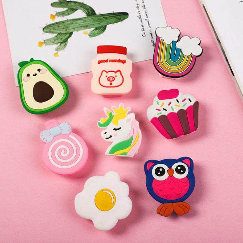 1 Pcs Cute Avocado Unicorn Owl Cake Rainbow Shape PVC Pencil Sharpeners Single Hole Pencil Cutter School Office Stationery Gifts