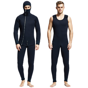 Image 5 - HQ 7mm wetsuits men spearfishing suit diving suit wetsuit Fishing and hunting Warm clothing Smooth leather waterproof waterproof