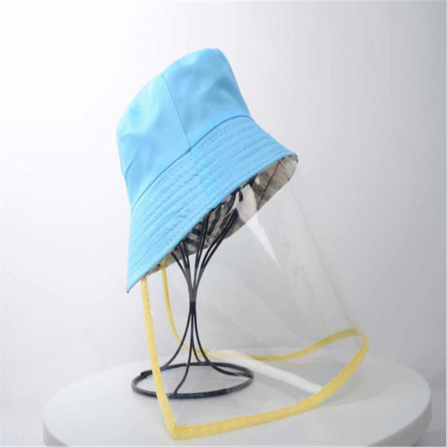 Protective Epidemic Anti-saliva Dust-proof Hat Safety Full Face Shield Protection Tool Fisherman Fishing Cap 5