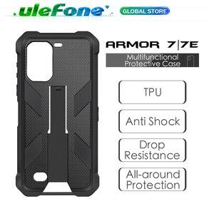 Image 1 - Multifuncional caso protetor para ulefone armadura 7 7e original tpu preto para ulefone armadura 7 7e com clipe de volta mosquetão