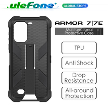 Multifunctional Protective Case for Ulefone Armor 7 7E  Original TPU Black Case For Ulefone Armor 7 7E with Back Clip Carabiner