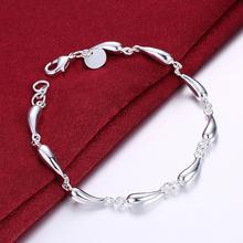Bracelet 925-Sterling-Silver Charm Fashion Jewelry Female Trendy Women New for Best-Gift
