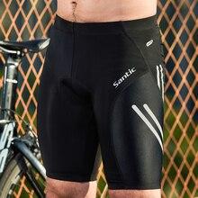 Santic Ciclismo Shorts Coolmax 4D Pad Antiurto Uomini MTB Shorts SANTIC R FEEL Anti pilling AIRFREE Bike formato Asiatico KS007